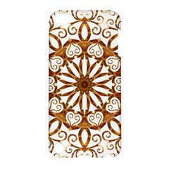 Golden Filigree Flake On White Apple Ipod Touch 5 Hardshell Case by Amaryn4rt