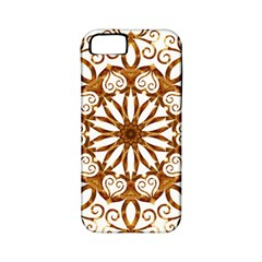 Golden Filigree Flake On White Apple Iphone 5 Classic Hardshell Case (pc+silicone)