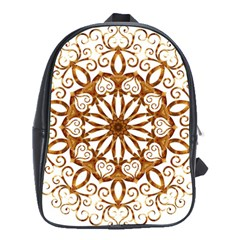 Golden Filigree Flake On White School Bags (xl)  by Amaryn4rt