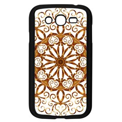 Golden Filigree Flake On White Samsung Galaxy Grand Duos I9082 Case (black) by Amaryn4rt