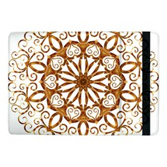 Golden Filigree Flake On White Samsung Galaxy Tab Pro 10 1  Flip Case by Amaryn4rt