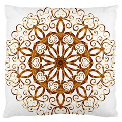 Golden Filigree Flake On White Standard Flano Cushion Case (one Side) by Amaryn4rt