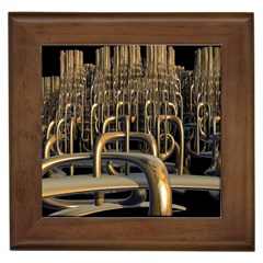 Fractal Image Of Copper Pipes Framed Tiles by Amaryn4rt