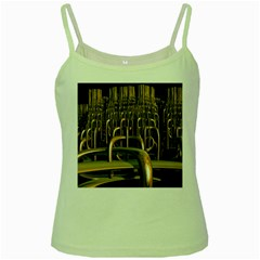 Fractal Image Of Copper Pipes Green Spaghetti Tank by Amaryn4rt