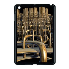 Fractal Image Of Copper Pipes Apple Ipad Mini Case (black) by Amaryn4rt