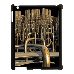 Fractal Image Of Copper Pipes Apple Ipad 3/4 Case (black) by Amaryn4rt