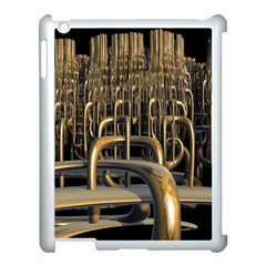 Fractal Image Of Copper Pipes Apple Ipad 3/4 Case (white) by Amaryn4rt