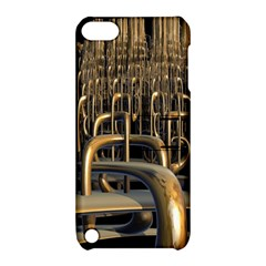 Fractal Image Of Copper Pipes Apple Ipod Touch 5 Hardshell Case With Stand by Amaryn4rt