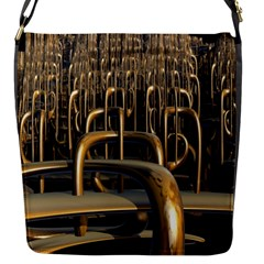 Fractal Image Of Copper Pipes Flap Messenger Bag (s) by Amaryn4rt