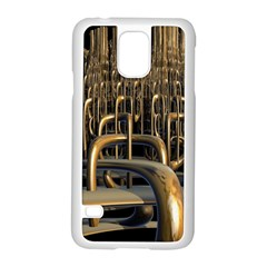 Fractal Image Of Copper Pipes Samsung Galaxy S5 Case (white) by Amaryn4rt