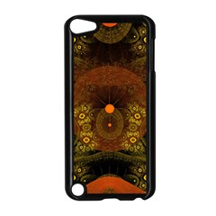 Fractal Yellow Design On Black Apple Ipod Touch 5 Case (black) by Amaryn4rt
