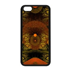 Fractal Yellow Design On Black Apple Iphone 5c Seamless Case (black) by Amaryn4rt