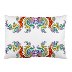 Fractal Kaleidoscope Of A Dragon Head Pillow Case by Amaryn4rt