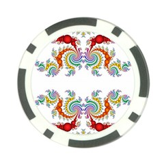 Fractal Kaleidoscope Of A Dragon Head Poker Chip Card Guard (10 Pack) by Amaryn4rt