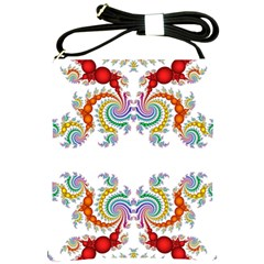 Fractal Kaleidoscope Of A Dragon Head Shoulder Sling Bags by Amaryn4rt