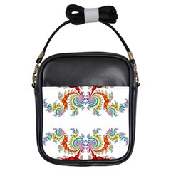 Fractal Kaleidoscope Of A Dragon Head Girls Sling Bags by Amaryn4rt