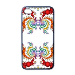 Fractal Kaleidoscope Of A Dragon Head Apple Iphone 4 Case (black) by Amaryn4rt