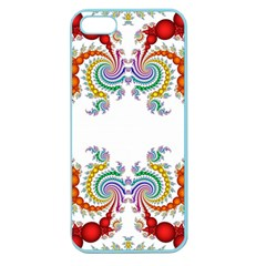 Fractal Kaleidoscope Of A Dragon Head Apple Seamless Iphone 5 Case (color) by Amaryn4rt
