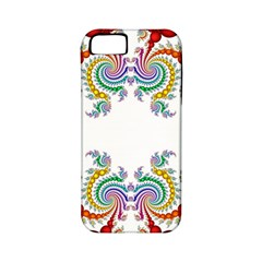Fractal Kaleidoscope Of A Dragon Head Apple Iphone 5 Classic Hardshell Case (pc+silicone) by Amaryn4rt