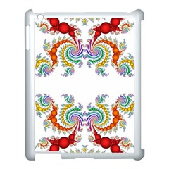Fractal Kaleidoscope Of A Dragon Head Apple Ipad 3/4 Case (white) by Amaryn4rt