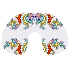 Fractal Kaleidoscope Of A Dragon Head Travel Neck Pillows by Amaryn4rt