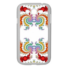 Fractal Kaleidoscope Of A Dragon Head Samsung Galaxy Grand Duos I9082 Case (white) by Amaryn4rt
