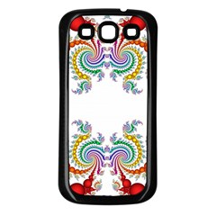 Fractal Kaleidoscope Of A Dragon Head Samsung Galaxy S3 Back Case (black)
