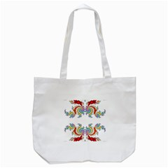 Fractal Kaleidoscope Of A Dragon Head Tote Bag (white) by Amaryn4rt