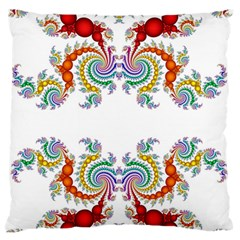 Fractal Kaleidoscope Of A Dragon Head Large Flano Cushion Case (one Side) by Amaryn4rt