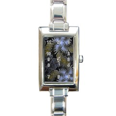 Fractal Wallpaper With Blue Flowers Rectangle Italian Charm Watch