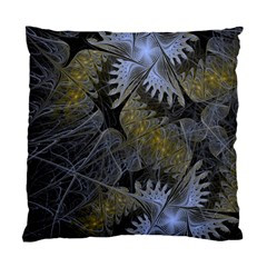 Fractal Wallpaper With Blue Flowers Standard Cushion Case (one Side) by Amaryn4rt