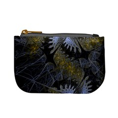 Fractal Wallpaper With Blue Flowers Mini Coin Purses