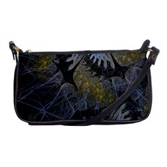 Fractal Wallpaper With Blue Flowers Shoulder Clutch Bags