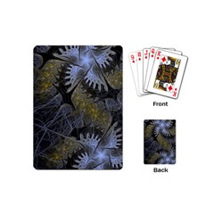 Fractal Wallpaper With Blue Flowers Playing Cards (Mini)