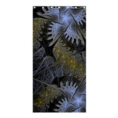 Fractal Wallpaper With Blue Flowers Shower Curtain 36  x 72  (Stall)