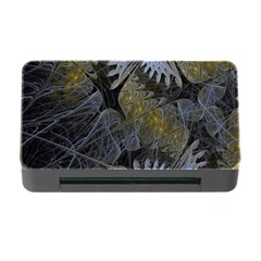 Fractal Wallpaper With Blue Flowers Memory Card Reader with CF