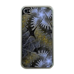Fractal Wallpaper With Blue Flowers Apple iPhone 4 Case (Clear)