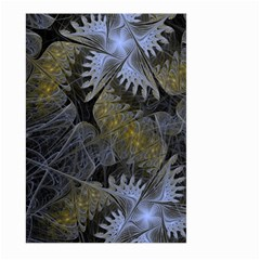 Fractal Wallpaper With Blue Flowers Large Garden Flag (Two Sides)