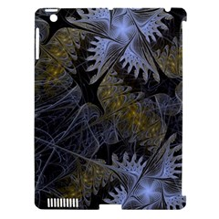 Fractal Wallpaper With Blue Flowers Apple iPad 3/4 Hardshell Case (Compatible with Smart Cover)