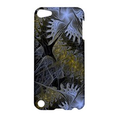 Fractal Wallpaper With Blue Flowers Apple iPod Touch 5 Hardshell Case