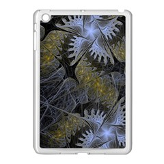 Fractal Wallpaper With Blue Flowers Apple iPad Mini Case (White)