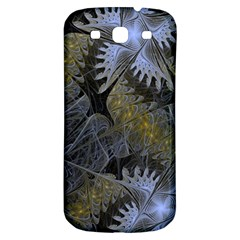 Fractal Wallpaper With Blue Flowers Samsung Galaxy S3 S III Classic Hardshell Back Case