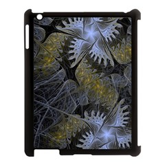Fractal Wallpaper With Blue Flowers Apple iPad 3/4 Case (Black)