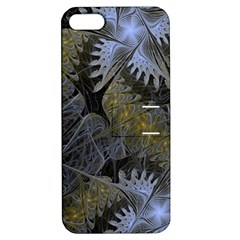 Fractal Wallpaper With Blue Flowers Apple iPhone 5 Hardshell Case with Stand