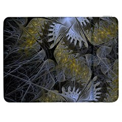 Fractal Wallpaper With Blue Flowers Samsung Galaxy Tab 7  P1000 Flip Case