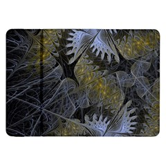 Fractal Wallpaper With Blue Flowers Samsung Galaxy Tab 8.9  P7300 Flip Case