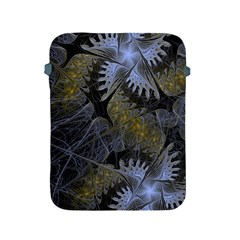 Fractal Wallpaper With Blue Flowers Apple iPad 2/3/4 Protective Soft Cases