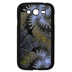 Fractal Wallpaper With Blue Flowers Samsung Galaxy Grand DUOS I9082 Case (Black)