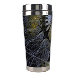 Fractal Wallpaper With Blue Flowers Stainless Steel Travel Tumblers