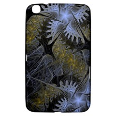 Fractal Wallpaper With Blue Flowers Samsung Galaxy Tab 3 (8 ) T3100 Hardshell Case